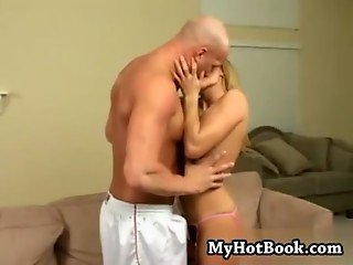 Jackie Moore reaches into her boyfriends shorts an