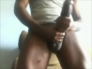 TWING STROKING BIG COCK