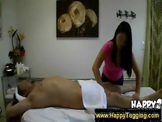 Massage therapist gives erotic massage