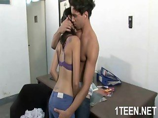 Innocent teen beauty screwed hard