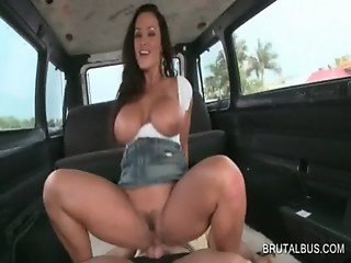 Dick riding upskirt in the bus with hot amateur