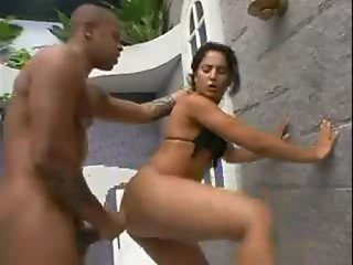 Big ass brazillian gets drilled in her pussy
