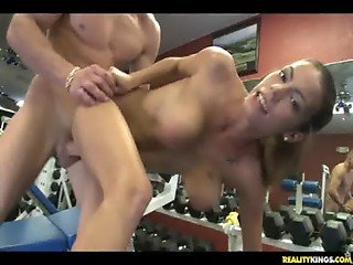 Jasmyne gets in her sex workout at the gym. from http://oqps.net