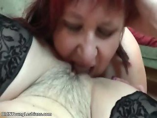 Sexy brunette lesbian gets her wet pussy