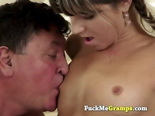 Cathy fucked by old man