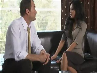 Asian secretary and Old Boss Kaylani Lei