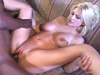 Blonde needs his BIG black cock in her white pussy