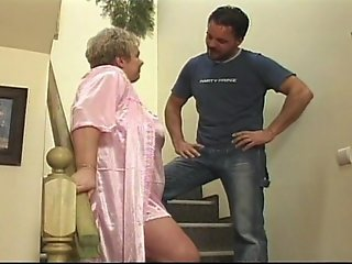 Horny grandma has some big hooters