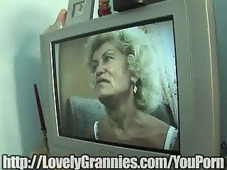 Mature granny takes a big dick in her old snatch