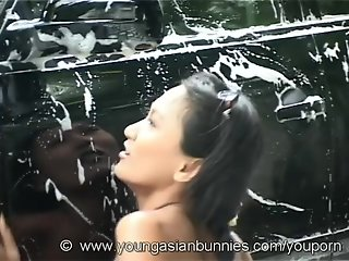 Sexy Carwash with asian Norlina