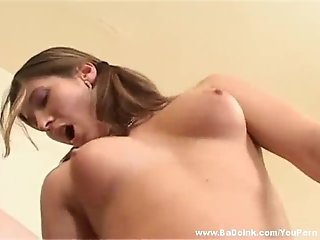 Hottest 18 year old European girl loving cock
