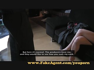 FakeAgent Hot amateur tries anal in Casting