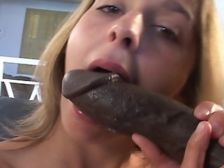 British girl shoots her first interracial threesome