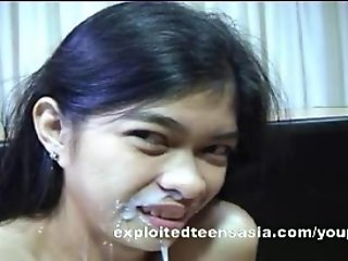 Mary-Jane Filipino Amateur Consented Rough Sex On Desk Jizz On Tits