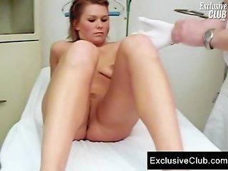 Janelle young mom having gyno exam