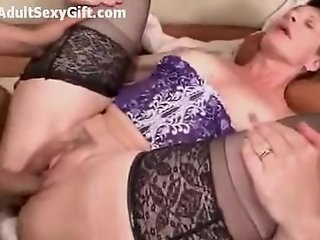 Mature fucks young