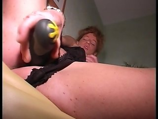 Granny pleases herself (clip)