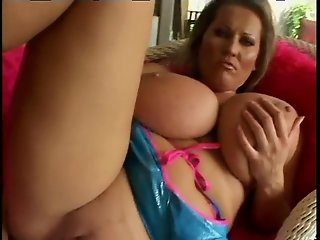 Cougar With Huge Natural Tits - Asses Up