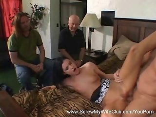 Raven Swinger Wife Gets Svrewed, Hubby Approves!