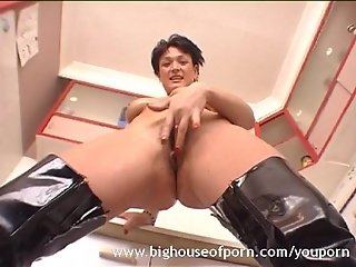 Horny British MILF Puts on a Show