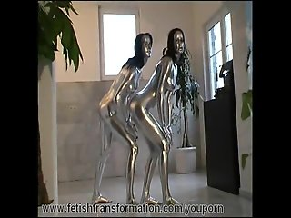 Glamour twins complete painted silver (clip)