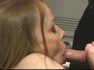 Veronika gives her boss a blow job