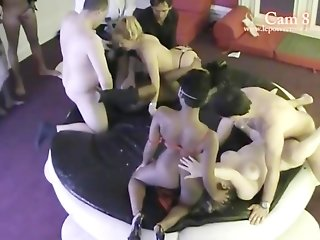 French Hidden cam in a swinger club! part 7