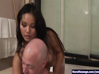 Beautiful Lana gives sensual massage p.1