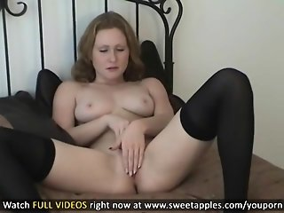 Great Big Boobs On Masturbating Redhead