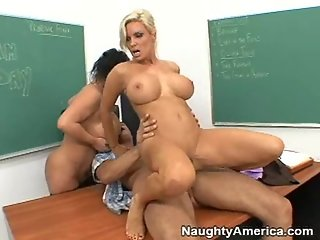 A student fucking two teachers