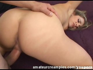 Hot Creampie Filled Her Wet Horny Pussy