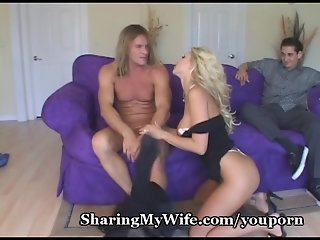 Hot Wife Offers To Share Her Pussy