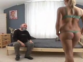 OLD MAN WITH TEEN CUTE GIRL