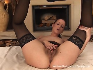 Hairy Walleria moans in pleasure