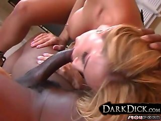Big Boob White Girl Sucks Black Cock interracial
