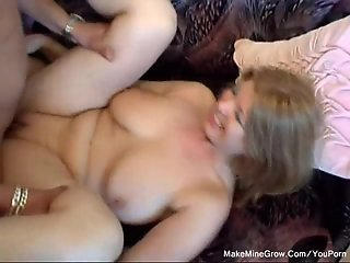 Blonde with natural Big Boobs