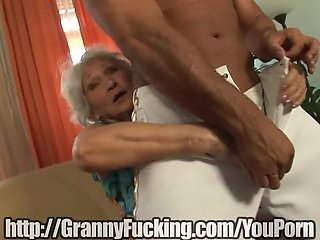 Fit Granny Bends over