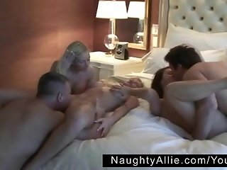 ENDING THE NIGHT WITH GROUP SEX