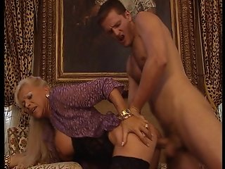 Mature blonde fucks her man