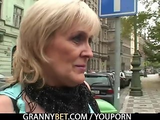 Granny jumps on his big meat