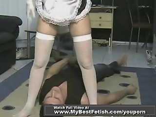 Naughty maid get is ass clean up