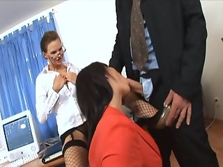 Secretary office threesome