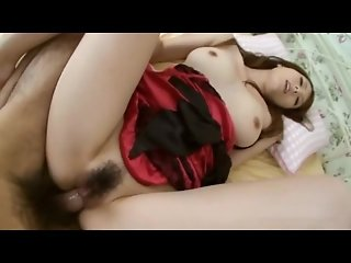 Busty japanese chick gets creampied