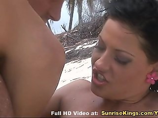 Amazing sex on the beach with Nataly Di Angelo