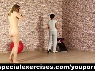 Nude BDSM training of teen blondie