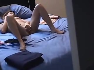 Young sister caught masturbating