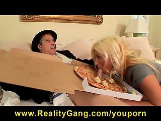 Horny young student Kaycee Brooks is fucked by her delivery boy