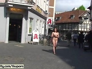 Damjana - Horny German Cutie Naked In Public