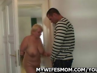 I can't believe, he just cream my mom!..