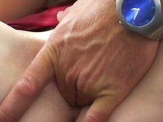 Skinny blonde fucks a small cock